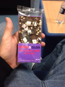 ...the only photo I have of the Rocky Road, which was sent to me via WhatsApp by the person in the Lighty family that pinched it off of me. He shall remain nameless, but let's just say it wasn't Baby Lighty. To be fair, I probably couldn't eat it being a gluten freak, but still!!