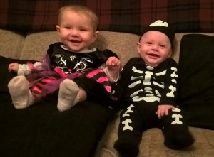 Baby Lighty and his cousin dressed up for Halloween / Mother-in-Law Lighty's birthday! Don't they just look so cute?!