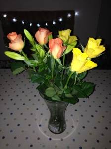 The beautiful flowers that Mr Lighty bought Mrs Lighty when we first found out that Baby Lighty was on his way!