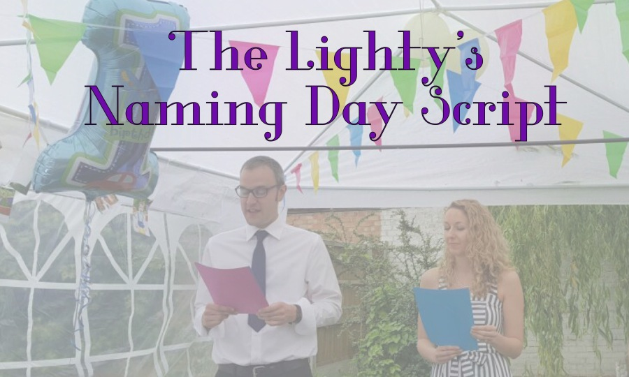 The Lightys' Naming Day Script